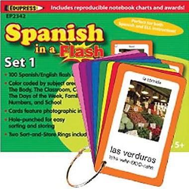 Edupress® Spanish In A Flash Color-Coded Flash Card Set 1, Grades 3+