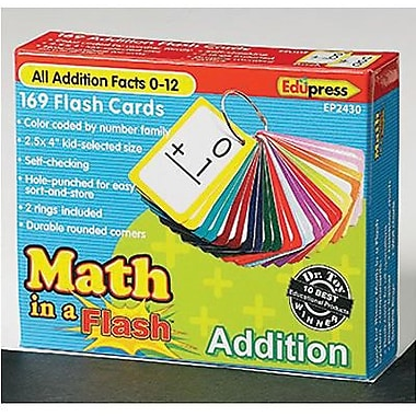 Edupress – Cartes éclair à codes de couleur Math in a Flash, additions (EP-2430)
