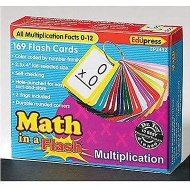 Edupress® Math In A Flash Colour-coded Flash Cards, Multiplication