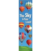 "Eureka EU-849712 45"" x 12"" Straight The Sky is Your Limit Banner, Multicolor"