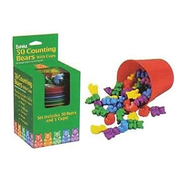 Eureka Counting Bears With Cups, 100/Pack (EU-864040)
