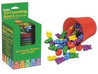 Eureka® Counting Bears With Cups