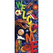 "Gallopade GAL62453 37"" x 16.5"" 3D Welcome Banners, Multicolor"