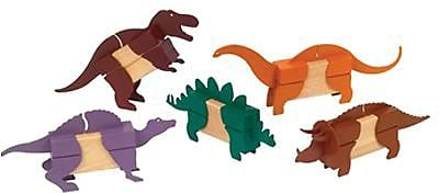 Guidecraft® Block Mates Dinosaurs