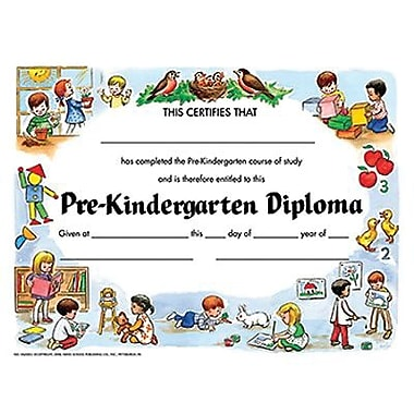 Hayes Violet Border Pre-kindergarten Diploma Certificate, 8 1/2