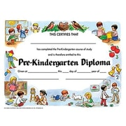 "Hayes Violet Border Pre-kindergarten Diploma Certificate, 8 1/2"" X 11"", 150/Pack (H-VA200CL)"