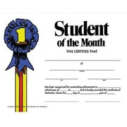 "Hayes® White Border Student of The Month Certificate, 8 1/2""(L) x 11""(W)"
