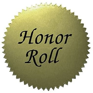 Hayes Gold Stickers, Honor Roll, 200/Pack (H-VA317)