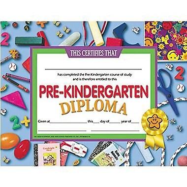 Hayes Assorted Border Pre-kindergarten Diploma Certificate, 8 1/2