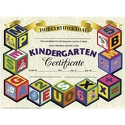 "Hayes White Border Kindergarten Certificate, 8 1/2"" X 11"", 90/Pack (H-VA501)"