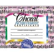 Hayes - Certificat de réussite en chorale, 8 1/2 x 11 po, 30/pqt (H-VA515)