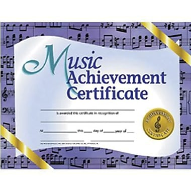 Hayes Blue Border Music Achievement Certificate, 8 1/2