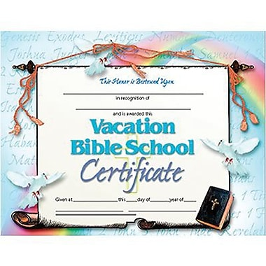 Hayes® Vacation Bible School Certificate, 8 1/2