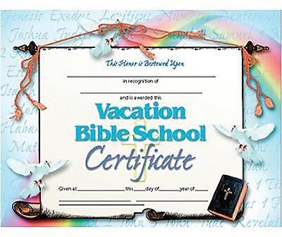Bible School Certificate