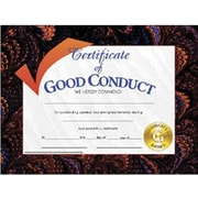 Certificates of appreciation hayes assorted border good conduct award certificate 8 12l yadclub Image collections