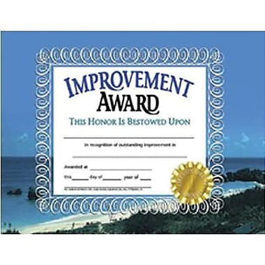 Hayes® Improvement Award Certificate, Recognition, 8 1/2