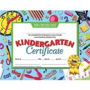 """Hayes® Blue Border Kindergarten Certificate, 8 1/2""""(L) x 11""""(W)"""