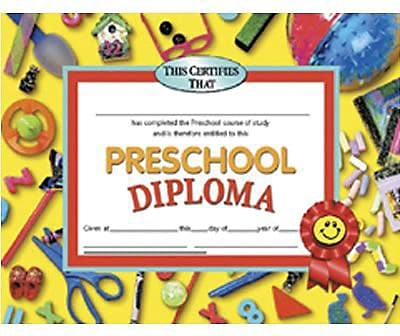 Diploma, Preschool, 8-1/2