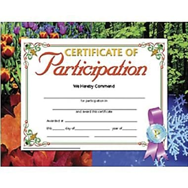 Hayes Certificate Of Participation, 8 1/2