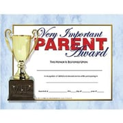 "Hayes® Very Important Parent Award Certificate, 8 1/2""(L) x 11""(W)"