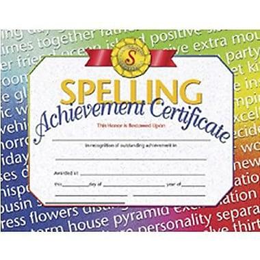 Flipside Spelling Achievement Certificate, 8 1/2