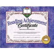 """Hayes® Red Border Reading Achievement Certificate, 8 1/2""""(L) x 11""""(W)"""