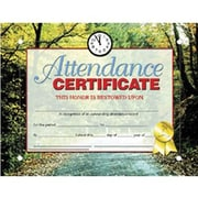 "Hayes® Red Border Attendance Certificate, 8 1/2""(L) x 11""(W)"