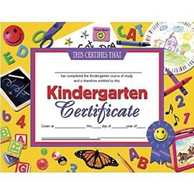 Hayes® Blue Border Kindergarten Certificate, 8 1/2