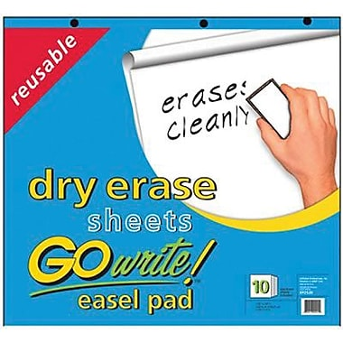 Pacon® GoWrite® Reusable Dry-Erase Easel Pads, White, 25