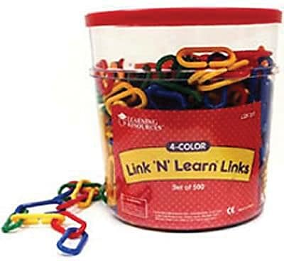 Learning Resources® Link N Learn® Links In A Bucket, Set of 500