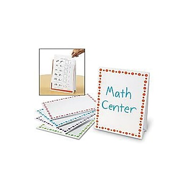 Learning Resources® Write and Wipe Center Signs