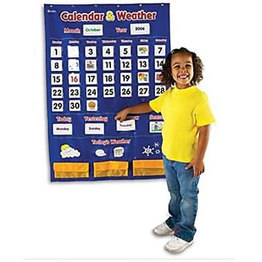 Learning Resources® Calendar and Weather Pocket Chart