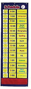 Learning Resources® Daily Schedule Pocket Chart