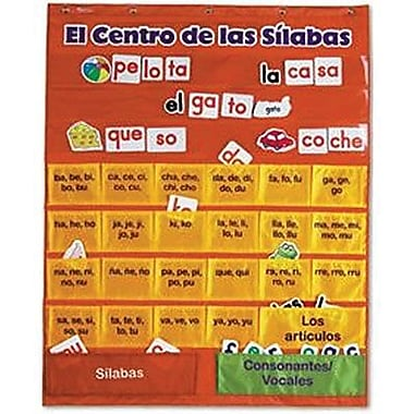 Learning Resources® El Centro De Las Silabas Pocket Chart