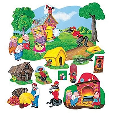 Little Folks Visuals Deluxe Flannel Board Set, The Three Pigs (LFV22013)