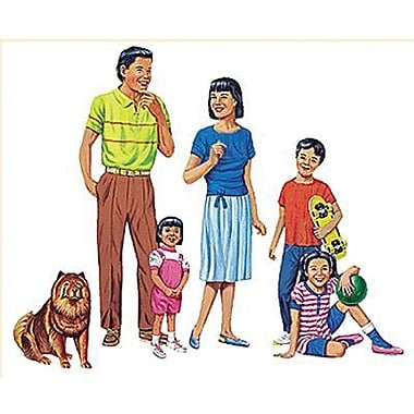 Little Folk Visuals® Flannel Board Set, Asian Family