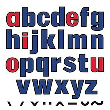 Little Folk Visuals Flannel Board Set, Lowercase Letters, 120/Set (LFV22427)