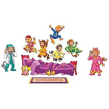 Little Folks Visuals Flannel Board Set, 5 Monkeys Jumping On Bed, 9/Pack (LFV22702)