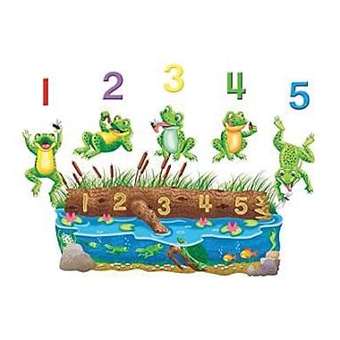 Little Folks Visuals Flannel Board Set, 5 Speckled Frogs Bilingual, 11/Pack (LFV22703)
