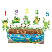 5 Speckled Frogs Bilingual Rhyme Flannelboard Set Pre-Cut