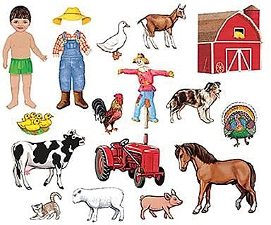 My Farm Friends Flannelboard Add-On Set Pre-Cut