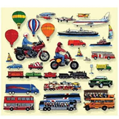 Little Folk Visuals® Flannel Board Add-On Set, Trucks Trains and Planes