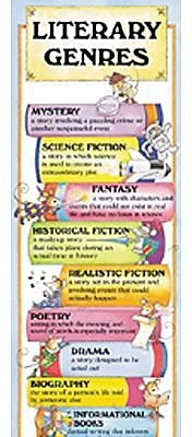 McDonald Publishing® Colossal Poster, Literary Genres