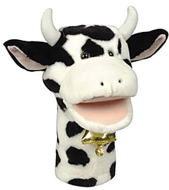 Get Ready Kids® Bigmouth Plush Pups Cow Hand Animal Puppets, 12