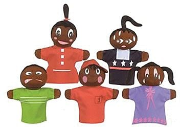 Hand Puppets, How Am I Feeling, African American, Set of 5