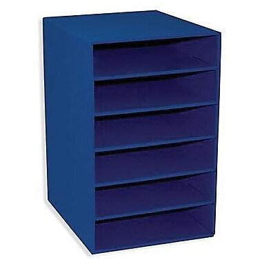 Pacon -Organisateur de rangement à 6 fentes Classroom Keepers, bleu