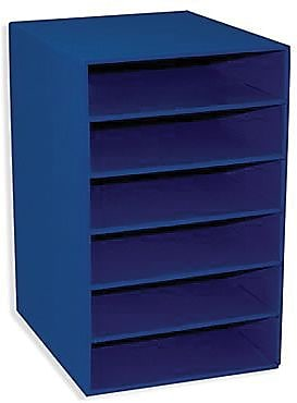 Pacon® Classroom Keepers® Blue Shelf Organizer With 6 Slots (PAC001312)