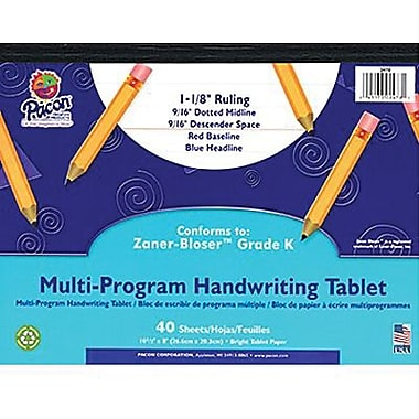Pacon Zaner-bloser Multi-program Handwriting Tablet Paper, Grades Kindergarten, 400/Pack (PAC2478)