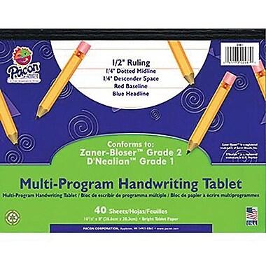 Pacon® Zaner-bloser D'nealian Multi-program Handwriting Tablet Paper, Grades 1st-2nd, 10 1/2