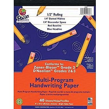 Pacon® Zaner-Bloser™ D'Nealian™ Multi-Program Handwriting Tablet Paper, 8